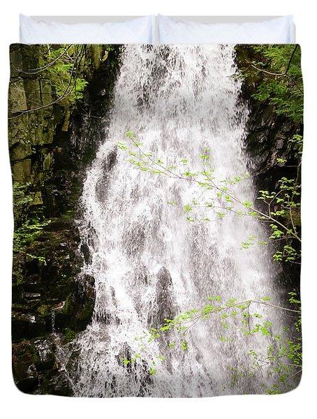 Water Roaring Down Cascade Falls, Farmington, Maine  -30377 Duvet Cover