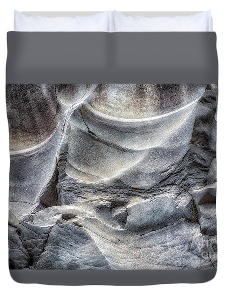 Water Sculpting Rock Art By Kaylyn Franks  Duvet Cover