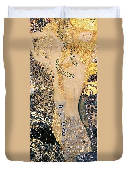 Water Serpents I Duvet Cover