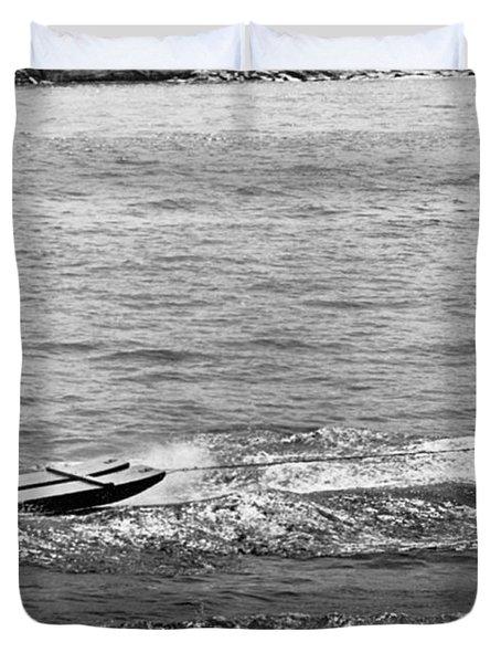 Water Skiing Elephant Duvet Cover