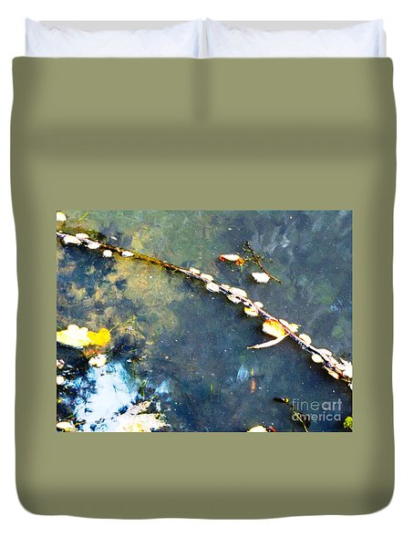 Water, Sky, Stick Duvet Cover