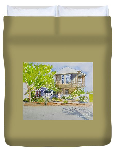 Water Street, Rosemary Beach Duvet Cover