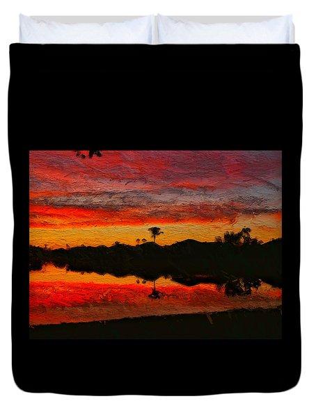Winter Sunrise I Duvet Cover