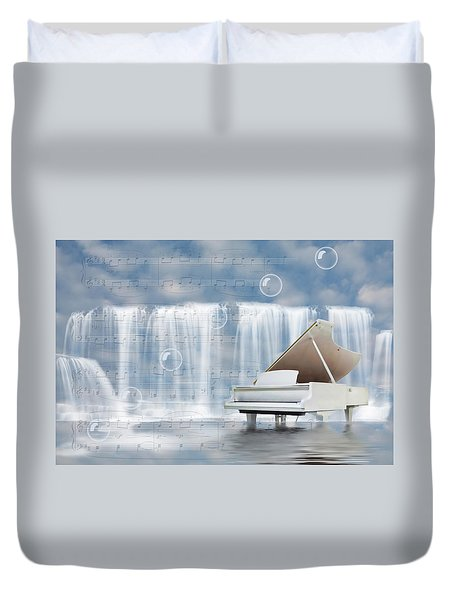 Water Synphony For Piano Duvet Cover