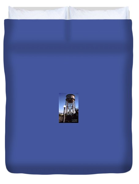 Water Tank Tower Alcartraz Duvet Cover