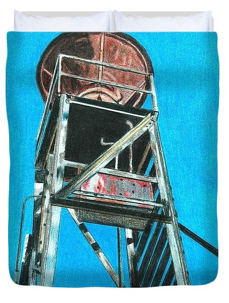 Water Tower Duvet Cover by Glenda Zuckerman