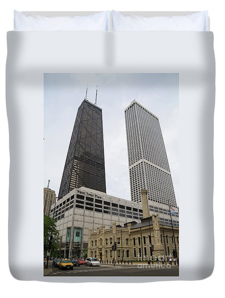 Water Tower Place And Company Duvet Cover