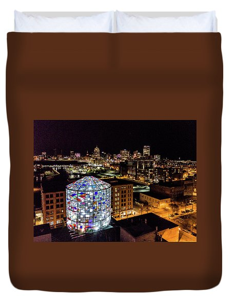 Water Tower Skyline Duvet Cover