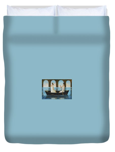 Water Under The Bridge Duvet Cover by Glenn Quist