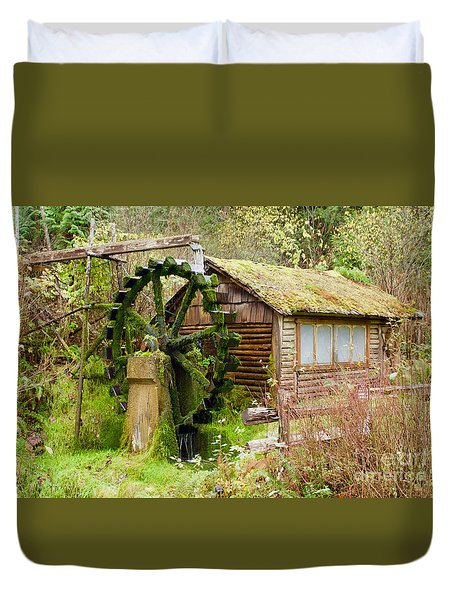 Water Wheel Duvet Cover by Sean Griffin
