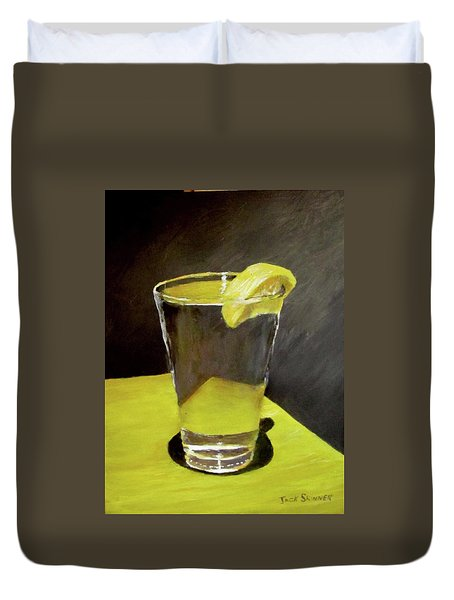 Water With A Lemon...please Duvet Cover