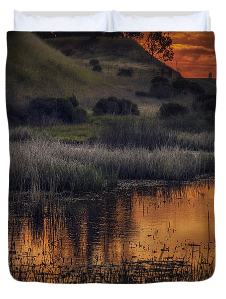 Waterbird Preserve Sunrise Duvet Cover