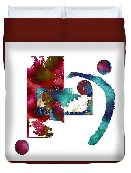 Watercolor Abstract 2 Duvet Cover by Kandy Hurley