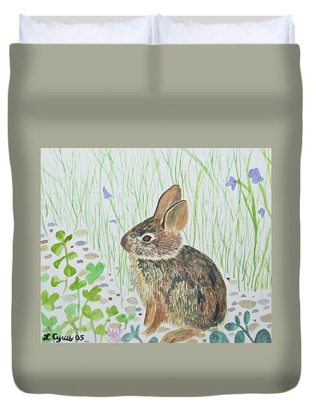 Watercolor - Baby Bunny Duvet Cover