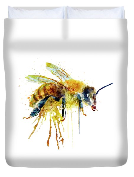 Watercolor Bee Duvet Cover