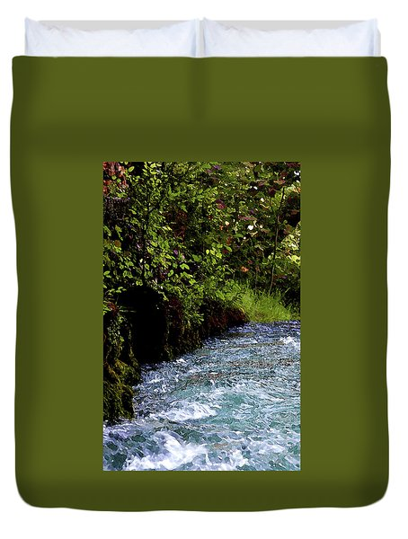 Watercolor Big Springs Missouri 2125 W_2 Duvet Cover