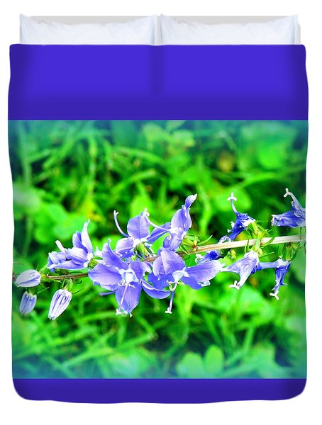 Watercolor Blooms Duvet Cover