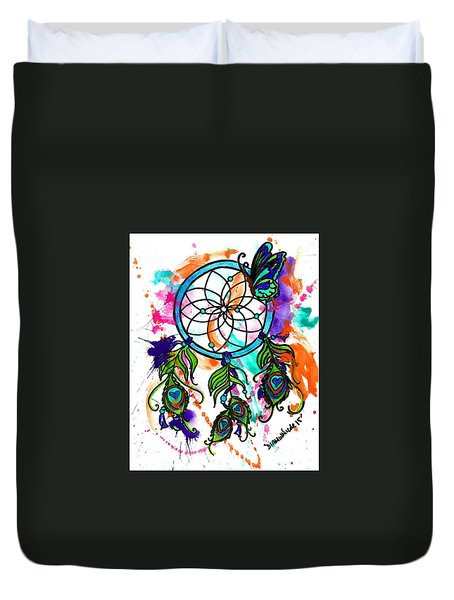 Watercolor Dream Catcher Duvet Cover