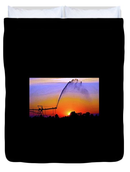 Watercolor Irrigation Sunset 3243 W_2 Duvet Cover