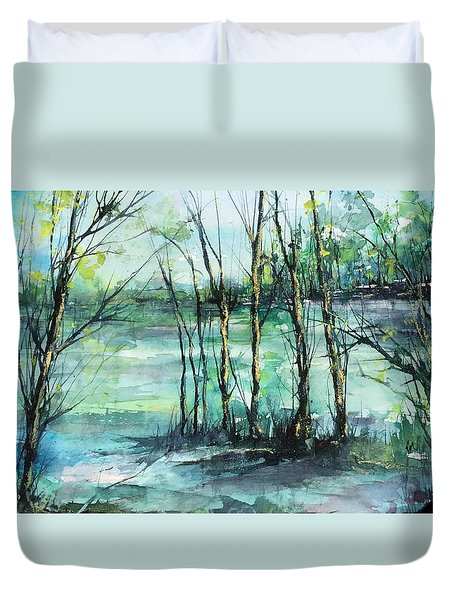 Watercolor Morning Duvet Cover
