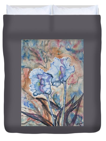 Watercolor - Orchid Impression Duvet Cover