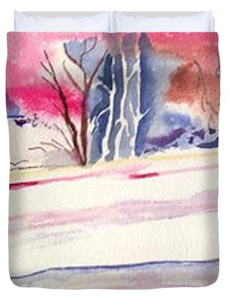 Watercolor River Duvet Cover