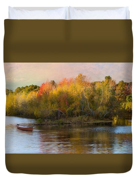 Duvet Cover featuring the photograph Watercolor by Robin-Lee Vieira