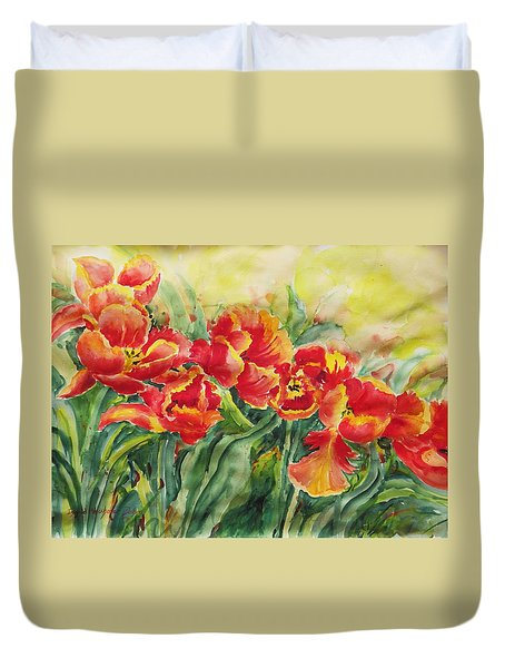 Watercolor Series No. 241 Duvet Cover