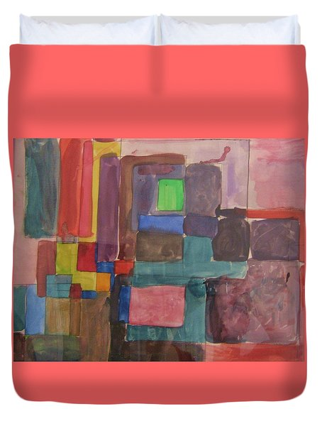 Watercolor Shapes Duvet Cover