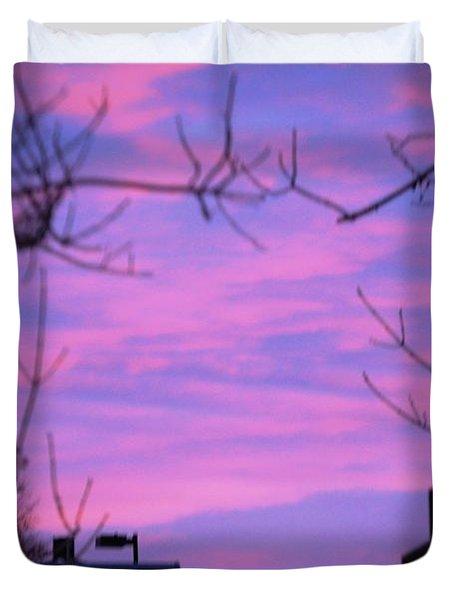 Watercolor Sky Duvet Cover