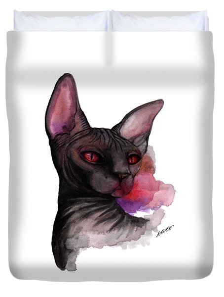 Watercolor Sphinx Duvet Cover