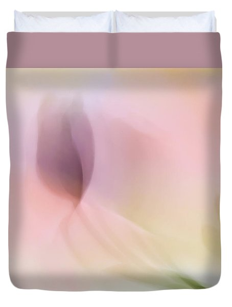 Watercolor Tulips Duvet Cover