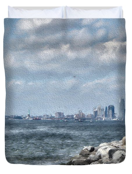Watercolor Views Duvet Cover by Terry Cork