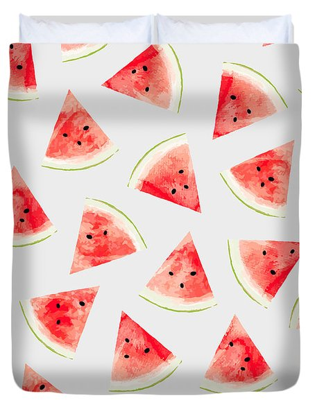 Watercolor Watermelon Pattern Duvet Cover