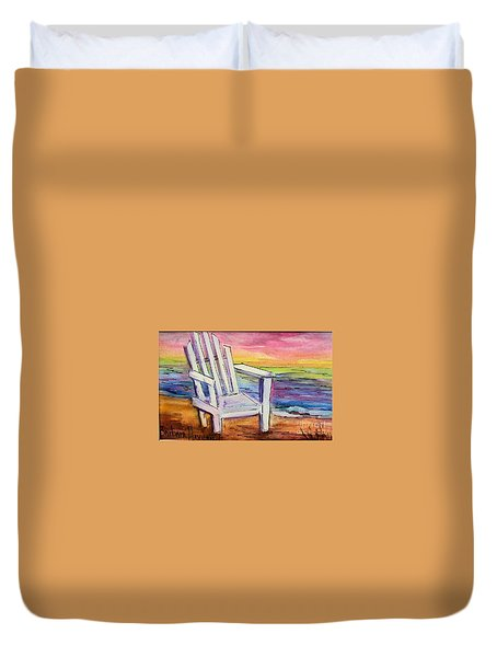 Watercolor White Chair Duvet Cover