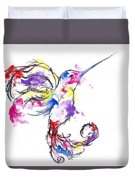 Watercolour Hummingbird Duvet Cover
