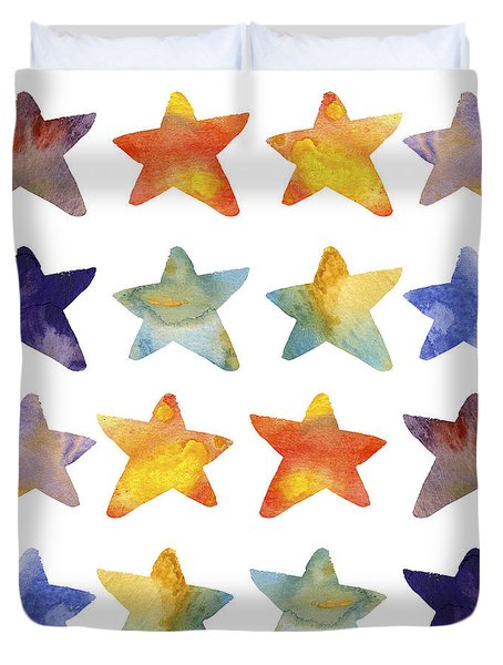 Watercolour Stars Duvet Cover
