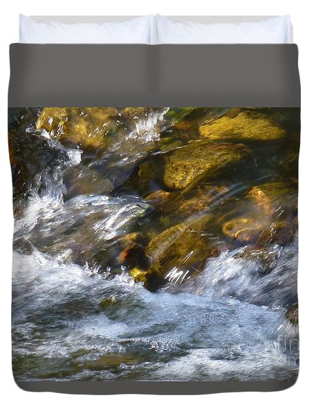Duvet Cover featuring the photograph Watercourse by Jean Bernard Roussilhe