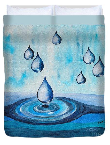 Waterdrops Duvet Cover
