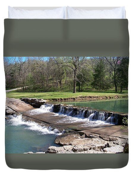 Waterfall 1 Duvet Cover by Julie Grace