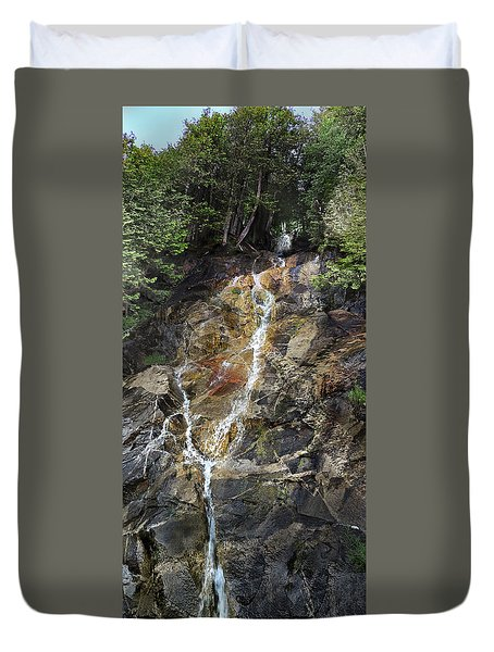 Waterfall At Lake Willoughby  Duvet Cover