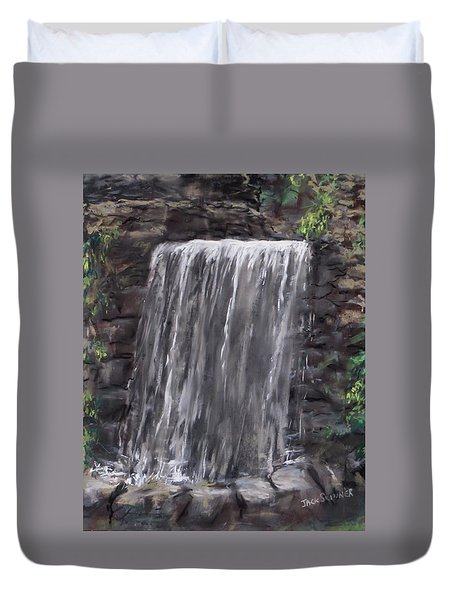 Waterfall At Longfellow's Gristmill Duvet Cover by Jack Skinner