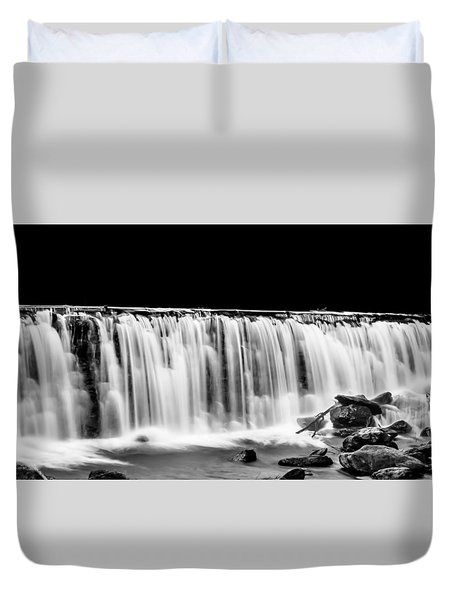 Waterfall At Night Duvet Cover