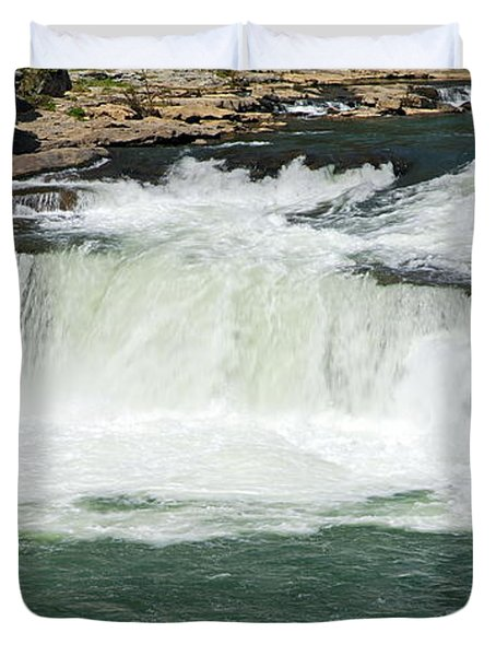 Waterfall At Ohiopyle State Park Duvet Cover