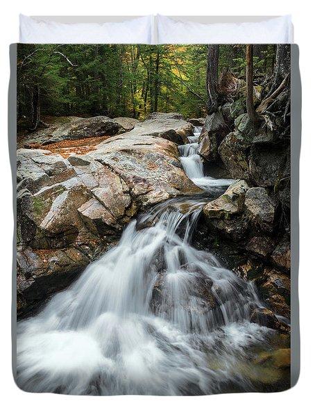 Waterfall At The Basin Duvet Cover by Sharon Seaward