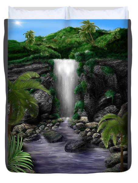 Waterfall Creek Duvet Cover