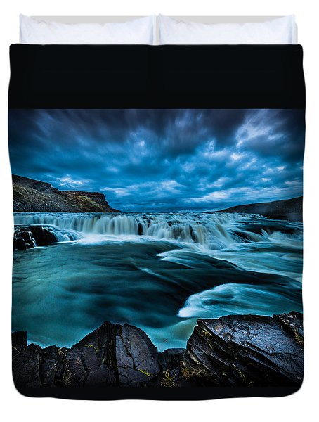 Waterfall Drama Duvet Cover by Chris McKenna