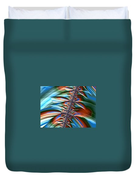 Waterfall Fractal 2 Duvet Cover by Bonnie Bruno