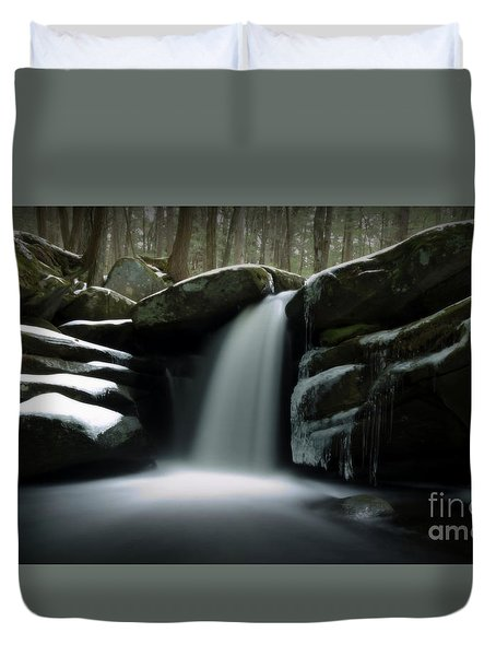 Waterfall From A Dream Duvet Cover