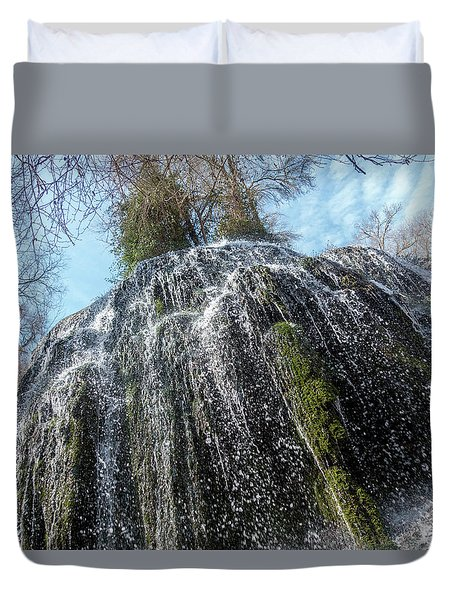 Waterfall From Below Duvet Cover